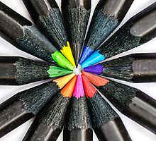 Black Colorful Pencils by MMPhotographyUK
