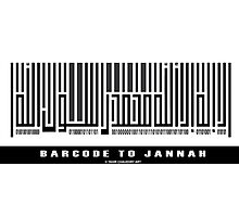 Barcode to Jannah Photographic Print