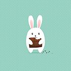 Bunny with chocolate by olarty
