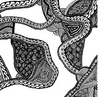 Zentangle Black and White Phone Case by Illyannas