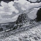Uphill (half way up the hill) by Antony R James