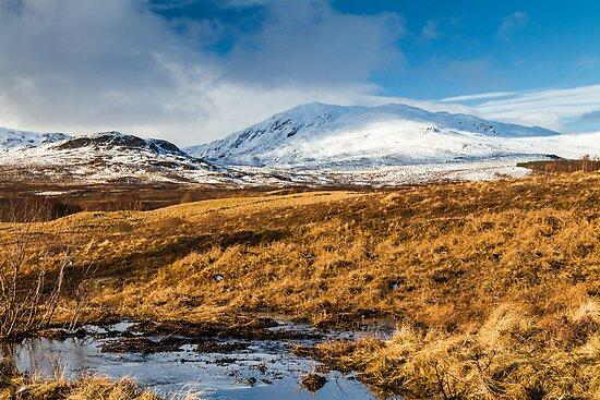 Ben Vrackie in winter, Scotland by Gabor Pozsgai