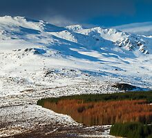 Ben Vrackie in winter, Scotland by Gabor Pozsgai