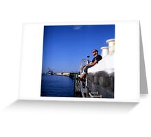 Fremantle Harbour  Greeting Card
