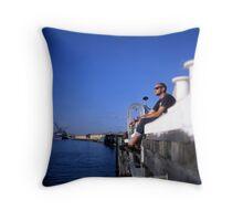 Fremantle Harbour  Throw Pillow
