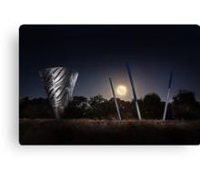 Moonrise Over Water Dance Sculptures  Canvas Print