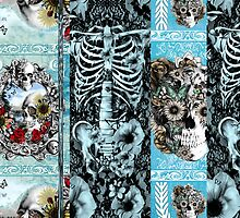 Patchwork Ornate skull Collage by KristyPatterson