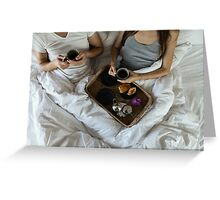 Coffee in Bed Greeting Card
