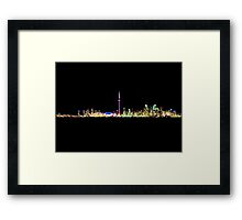 Toronto Skyline At Night From Centre Island Framed Print