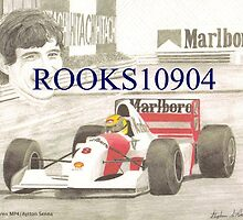 1992 McLaren MP4 Formula One RACE CAR ART PRINT by rooks10904