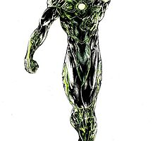 Green Lantern colored by VictorRyan