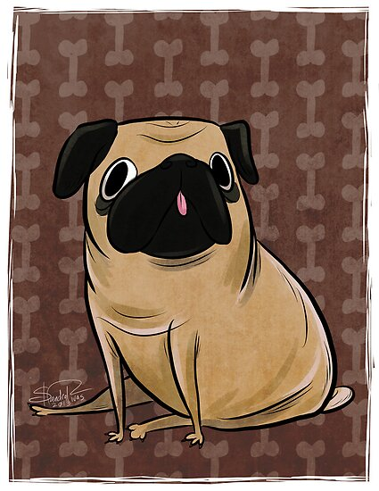 Pug by Sandra Rivas