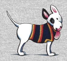 Bull Terrier in Blue {dark} by offleashart