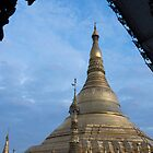 framed pagoda by Anne Scantlebury