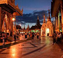 pagoda by night by Anne Scantlebury