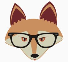 Red Fox with Glasses by JannaSalak