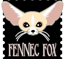 Cute Fennec Fox Cartoon by JannaSalak