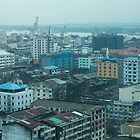 yangon city by Anne Scantlebury