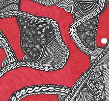 Zentangle Red Phone Case by Illyannas