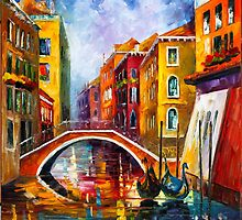 VENICE BRIDGE by Leonid  Afremov