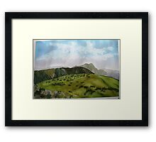 The view from Mt  Loch in summer Framed Print