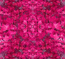 Fantasy Pink Leaves Composition by DFLCreative