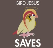 Twitch Plays Pokemon: Bird Jesus Saves - Dark with White Text by Twitch Plays Pokemon