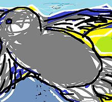 Birds eye view of landscape(imaginary) -(190214)- Digital artwork/MS Paint by paulramnora