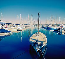 Blue Harbour. Golfe Juan, France by faithie