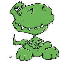 Funny sitting Dinosaur by chrisbears