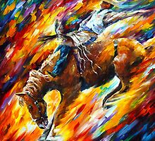 RODEO DANGEROUS GAMES by Leonid  Afremov