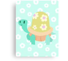 Cute Flowery Turtle Canvas Print