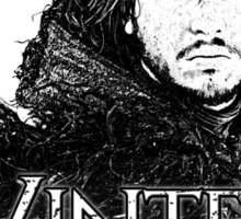 Jon Snow ( Winter is Coming ) Sticker