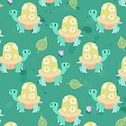 Cute Flowery Turtle Pattern by SaradaBoru