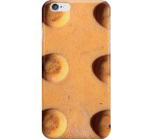 Yellow dots Metal iPhone Case/Skin