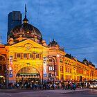 Flinders Station glow by Esther Frieda