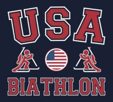 USA Biatholon Team Sochi Olympics T-Shirt by xdurango