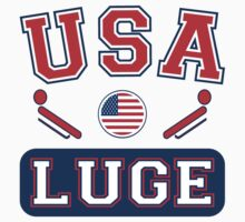 USA Luge Team Sochi Olympics T-Shirt by xdurango