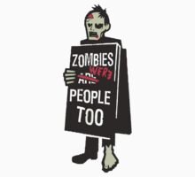 Zombies Are - Were People Too - Walking Dead Talking  by sturgils