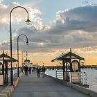 St Kilda pier sunset by Esther Frieda