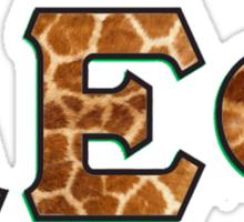 Alpha Epsilon Phi Giraffe Pattern Sticker