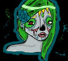 Day of The Dead girl by anakinsutcliff