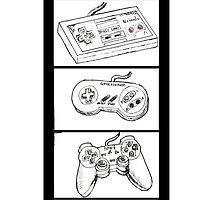 Video Game Controllers by artwrkinprogres