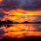 Sunset on the lake by Stephen  Nicholson