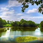 Old Wardour Castle Lake by mlphoto