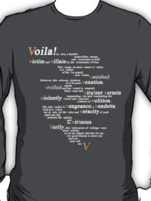 V For Vendetta - You Can Call Me V T-Shirt