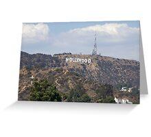 Hollywood Sign Greeting Card