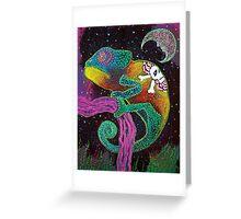 Midnight Chameleon Greeting Card