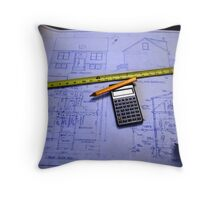 Blueprints Throw Pillow