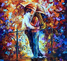 KISS ON THE BRIDGE by Leonid  Afremov